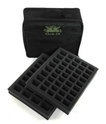 (C4) P.A.C.K. C4 Bag 2.0 (Black) with 2x 1.5 inch Troop Foam Trays