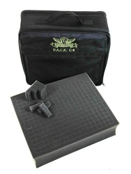 (C4) P.A.C.K. C4 Bag 2.0 (Black) with 3 Inch Pluck Foam Tray