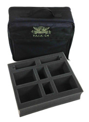 (C4) P.A.C.K. C4 Bag 2.0 (Black) with Card Box Foam Tray