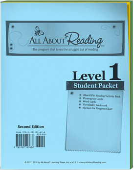 All About Reading Level 1 Student Packet Cover
