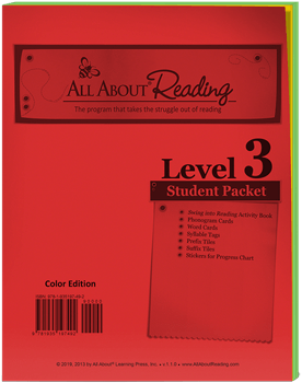 All About Reading Level 3 Student Packet Cover
