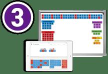Letter Tiles app or Whiteboard