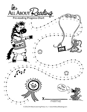 All About Reading Pre-reading Progress Chart