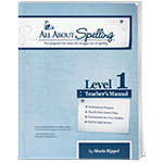 All About Spelling Level 1 Teacher's Manual