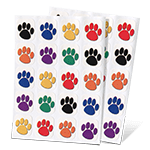 Private Eye Pawprint Stickers