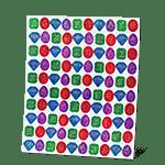 Glimmering Gem Stickers