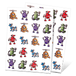 Robots in Motion Stickers