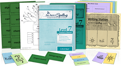 All About Spelling Level 7 Materials