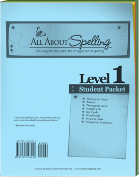 All About Spelling Level 1 Student Packet Cover