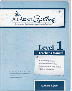 All About Spelling Level 1 Teacher's Manual Cover