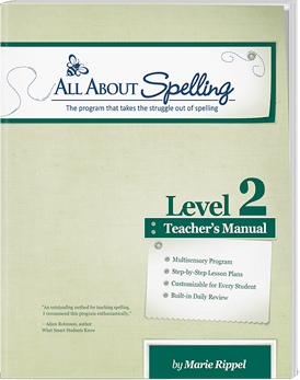 All About Spelling Level 2 Teacher's Manual Cover
