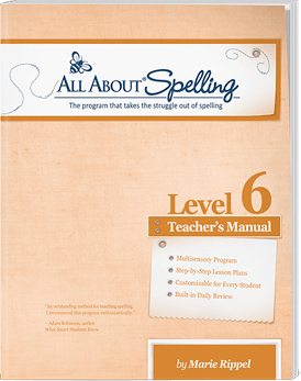 All About Spelling Level 6 Teacher's Manual Cover
