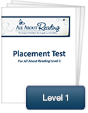 All About Reading Level 1 Placement Test