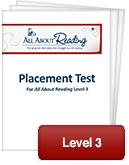 All About Reading Level 3 Placement Test