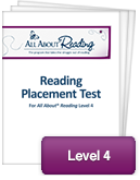 All About Reading Level 4 Placement Test