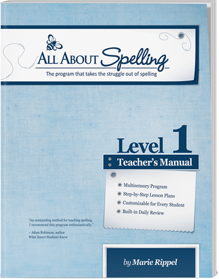 All about spelling all about spelling level 1 all about learning aas level 1 teachers manual fandeluxe Images