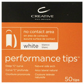 CND - Performance White Tips 50/Pack
