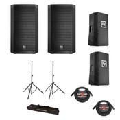 Electro-Voice ELX200-12P Powered Speaker Bundle