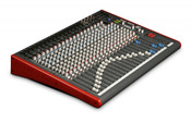 Allen & Heath ZED-24 Mixer 24- Channel Mixer with USB Front View Angled
