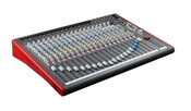 Allen & Heath ZED-22FX Mixer 22-Channel USB Mixer with Effects Front Angled View