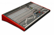 Allen & Heath ZED-428 Mixer 4-Buss 28-Channel Live/Recording Mixer Front View Angled