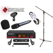 Sennheiser EW135G3CC-B Wireless Vocal Microphone Bundle with Rack Mount Kit