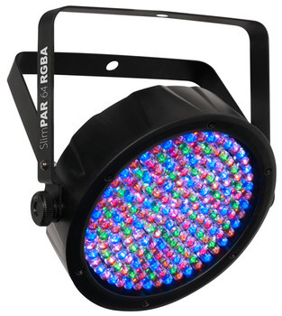 Chauvet DJ SLIMPAR64RGBA LED DMX512 Par Can with Added Amber LEDs and Power Linking