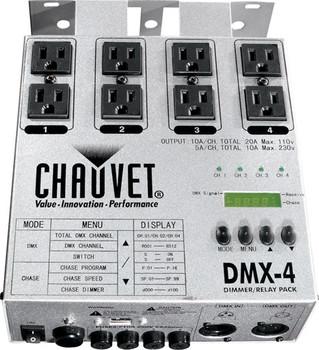 Chauvet DJ DMX-4, 4 Ch. Dim/Relay Front View