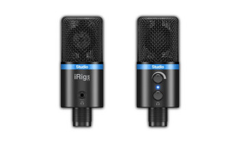 IK Multimedia iRig Mic Studio Digital Microphone for iPhone, iPad, Android and Mac/PC - Black