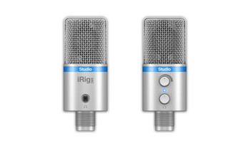IK Multimedia iRig Mic Studio Digital Microphone for iPhone, iPad, Android and Mac/PC - Silver