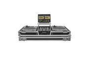 Odyssey FZGSLBM10W Low Profile Glide Style DJ Coffin W/Whls for A 10-inch Mixer & Two Turntables in Battle Position
