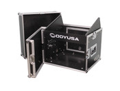 Combo Rack with 8U Top Slant Rack, 6U Bottom Vertical Rack