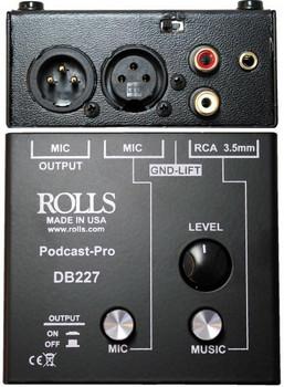 DB227 Podcast Pro Mic/Source Passive Mixer