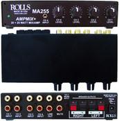 MA255 Stereo 20 Watt Mixer Amp 4-RCA's