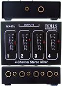 Rolls MX41b Stereo 4 Ch 1/4-inch & 1/8 -inch Mixer Passive