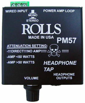 PM57 Headphone Tap With Attenuation Switch