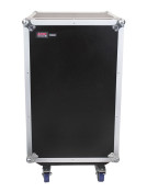 G-TOUR 10X12 PU Pop-Up Console Rack Case - 10 Space Top and 12 Space Front and Rear Rackable Audio Equipment