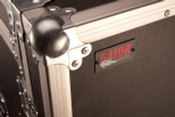 G-TOUR 10X14 PU Pop-Up Console Rack Case - 10 Space Top and 14 Space Front and Rear Rackable Audio Equipment