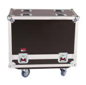 """G-TOUR SPKR-212 Double Speaker Case for Two 12"""" Loudspeakers - Black"""