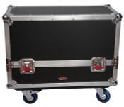 G-TOUR SPKR-2K8 Case for 2 QSC K8 Speakers - Black