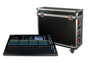 Gator Cases G-TOURQU32 ATA Wood Flight Case for Allen & Heath QU32 Mixing Console w/Doghouse Design
