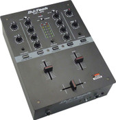 DJ tech DIF-2S (black) 2-channel professional DJ mixer angle