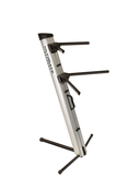 AX-48 Pro Apex Series Two-tier Portable Column Keyboard Stand (Silver)