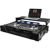 Odyssey FZGSNS73WX1BL Numark NS7 DJ Controller Case with Wheels and Lower 19-inch 1U Rack Space for NS7/NS7 II/Ns7 III - Black