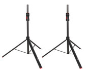 GFW-ID-SPKRSET Set of (2) Frameworks ID series adjustable speaker stands with piston driven lift assistance