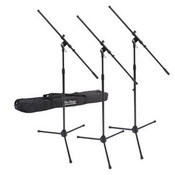 On Stage Stands MSP7703 3 Pack of MS7700 Series Euroboom Mic Stands w/Bag