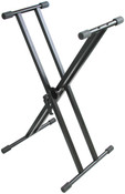AST4361 Easy-Lock Quick Height Adjustment Professional Dual-Brace Single Tier X-Style Keyboard Stand