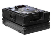 Odyssey FZCDJBL Black Label Flight Zone Case for Large Format CD Players