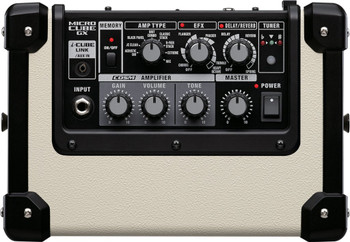 Roland Battery Powered Guitar Amp w/ COSM, i-Cube Link Effects & 8 Memories (white)
