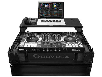 FZGSRODJ808W2BL ROLAND DJ-808 SERATO BLACK LABEL GLIDE STYLE SERIES CASE WITH A BOTTOM 19 INCH 2U RACK SPACE